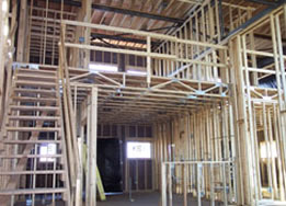 evanston illinois loft condo interior during construction