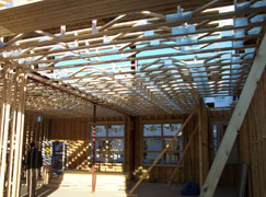 our lofts use trusses and quality materials